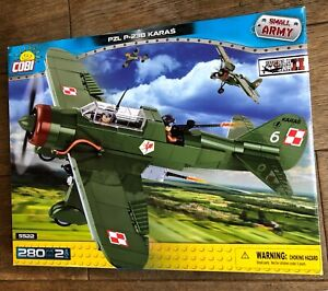Cobi 5522 - PZL P-23B Karas - Rare Discontinued Model! Mint in Box Set