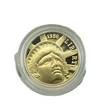 1986-W Gold $5 Commem Statue of Liberty Proof coin in Capsule