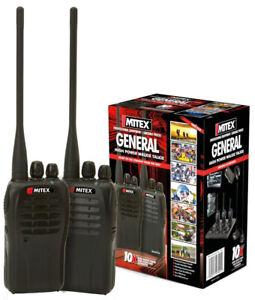 Mitex General UHF 5W Twin Pack Two Way Radios Walkie Talkies