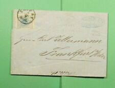 DR WHO 1858 ITALY TRIEST IMPERF F/L TO GERMANY  f44025