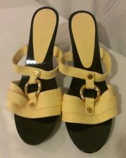Celine Platform Heels 40, US 9.5 Creme Sandals Heels Shoes Gold Metal VGUC
