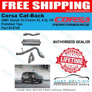 Corsa SPORT Cat-Back Polished 15-19 Suburban Yukon XL Denali Escalade ESV 6.2L