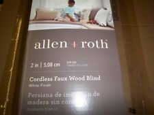 "New Allen & Roth 2"" Cordless White Faux Wood Blinds 23X72 0553205 Free Shipping"