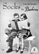 Knitting PATTERNS Childrens Socks Knee Ankle Lace Houndstooth Size 2-14