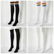 Fashion Women Girls Long Socks Rainbow Over The Knee Thigh High Stocking Warm
