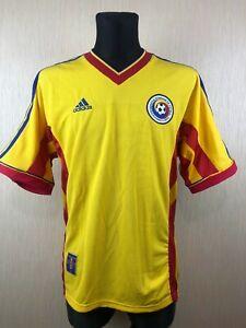 ROMANIA 1998 2000 HOME SHIRT FOOTBALL SOCCER JERSEY ADIDAS MENS SIZE L