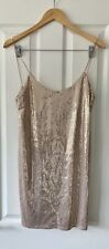 ZARA PINK SEQUIN CAMI DRESS S SMALL