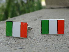Ireland Flag Cufflinks--European Britain Irish Dublin Eire Gaelic Celtic