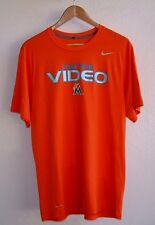 MIAMI MARLINS VIDEO COACHING TEAM ISSUED NIKE DRI-FIT WORK OUT SHIRT LARGE
