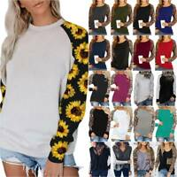 Women Long Sleeve T-Shirt Pullover Jumper Tops Ladies Casual Blouse Basic Tee