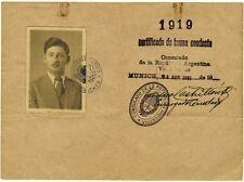 3 Dokumente eines Auswanderers nach Argentinien 1922-30