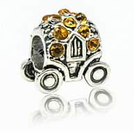 New European Silver Charm Bead Fit sterling 925 Necklace Bracelet Chain US wd94