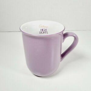 CADBURYS HIGH LIGHTS Small Purple Hot Chocolate Highlights Cup Mug Collectable