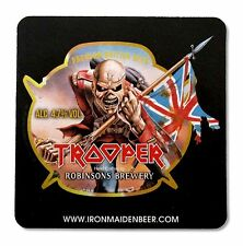 IRON MAIDEN BEER TROOPER CARDBOARD COASTERS ROBINSONS BREWERY SET OF 6