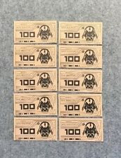HASBRO Replacement Spare Extra STAR WARS Monopoly Money 10 X 100 Credit