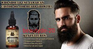 Sunny Isle Jamaican Black Castor Oil Beard Oil- 2oz OR 4oz-Original-FREE UK POST