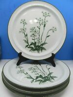 Noritake Stoneware MOUNTAIN FLOWERS Dinner Plates Bundle of 4 ~PRISTINE!