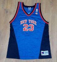 New York Knicks #23 Camby rare vintage Champion NBA jersey size Youth XL