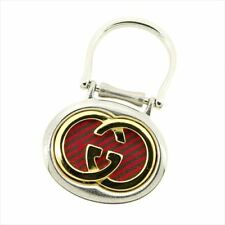 Gucci key ring Key holder G logos Silver Woman Authentic Used T7712