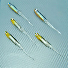 Shad Minnow Sand Eel Needle Tail Soft Lure Fishing Tackle Swimbait Jig Head 90mm