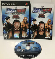 WWE Smackdown vs. Raw 2008 (Playstation 2 PS2) Complete ! Black Label ! CIB ! 🔥