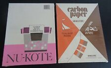 VINTAGE Carbon Paper 2 Sealed Packaged Nu-Kote & Ko-Rec-Type NEW Free Shipping