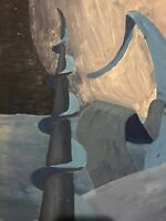 Modernist -,Cubist Abstract - Oil On Board - Russian ?