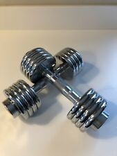 Dumbbell set 5 kg each, Reebok, 8 weights on each total weight for set 10 kg