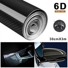 Carbon Folie 6D selbstklebend Car Wrapping Folie Autosticker Schwarz 30 x 300cm