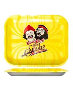 "Cheech & Chong 40th Anniversary Rolling Tray - Small - 7 ""x 5.5"" - YELLOW"