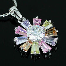 Silver Plated Topaz Stone Fashion Necklaces & Pendants