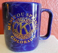 Kiwanis International Manitou Springs Colorado Coffee Mug Vintage Blue