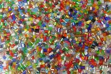 450g 2mm Zylinder Glas Rocailles Roccailles PERLEN BEST MIX Stiftperlen Z18