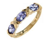 Tanzanite Yellow Gold 10Carat Fine Gemstone Rings