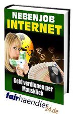 Nebenjob INTERNET - GELD verdienen per Mausklick RATGEBER geil PDF eBook eBuch