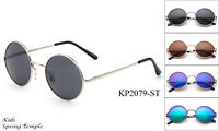 Kids Aviator Sunglasses Classic Round Boys Girls UV 100% Lead Free Spring Hinge