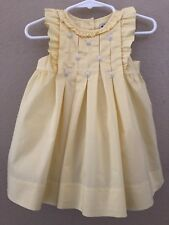 Janie And Jack Infant Girls 6-12 Months Yellow Dress