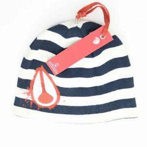 Nixon Luna Rosa Beanie Hat Blue White Red One Size
