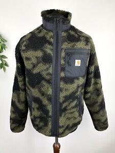 Carhartt WIP Prentis Liner Zip Fleece Jacket Blur Camo Size Medium
