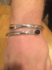 & Onyx Bracelet Handmade Silver Cat's Eye