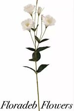 ARTIFICIAL SILK FLOWERS...TALL 87cm LISIANTHUS SPRAY IN IVORY (3 HEADS)