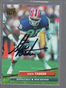 STEVE TASKER BUFFALO BILLS AUTOGRAPHED FOOTBALL CARD