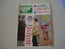 MOTOSPRINT 7/1981 ZUNDAPP 125 REGOLARITA/FANTIC ALPIN/GARELLI NOI LUSSO/MORIWAKI