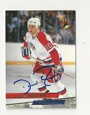 93/94 Ultra Autographed Hockey Card David Roberts Team USA