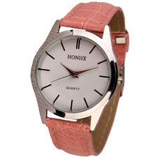 Womens Mens Fashion Leather Band Watch Quartz Analog Dress Bracelet Wrist Watche