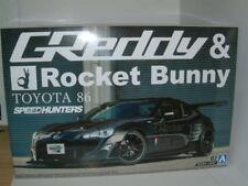 1/24 FIAT FORD HONDA GT86 GREDDY & Rocket Bunny VOLK RACING. KIT in plastica.