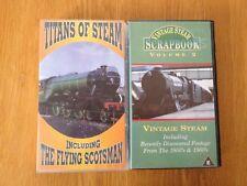 2 VHS Tapes of Steam Trains: Titans Of Steam & Vintage Steam Scrapbook vol 2