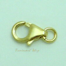14K Gold Filled 8 x 5mm/ Ring Lobster Clasp 3pcs. Findings New  ITALY