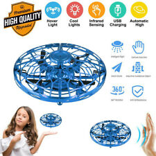 Hand Operated Mini Drone for Kids, Flying Ball Toy Blue Helicopter Infrared