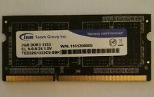 MEMORIA/ RAM SODIMM / NUOVA /2GB DDR3/ NOTEBOOK PC3-10600/1333 Mhz .